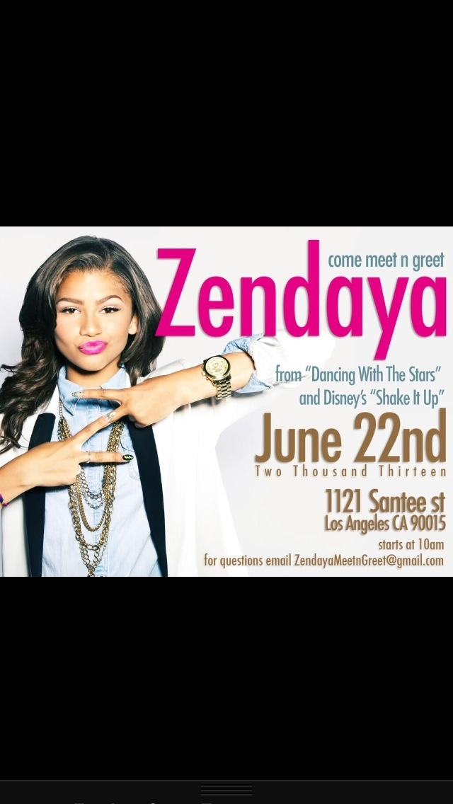 Meet zendaya in los angeles june 22 2013 reach for the stars meet zendaya in los angeles june 22 2013 m4hsunfo