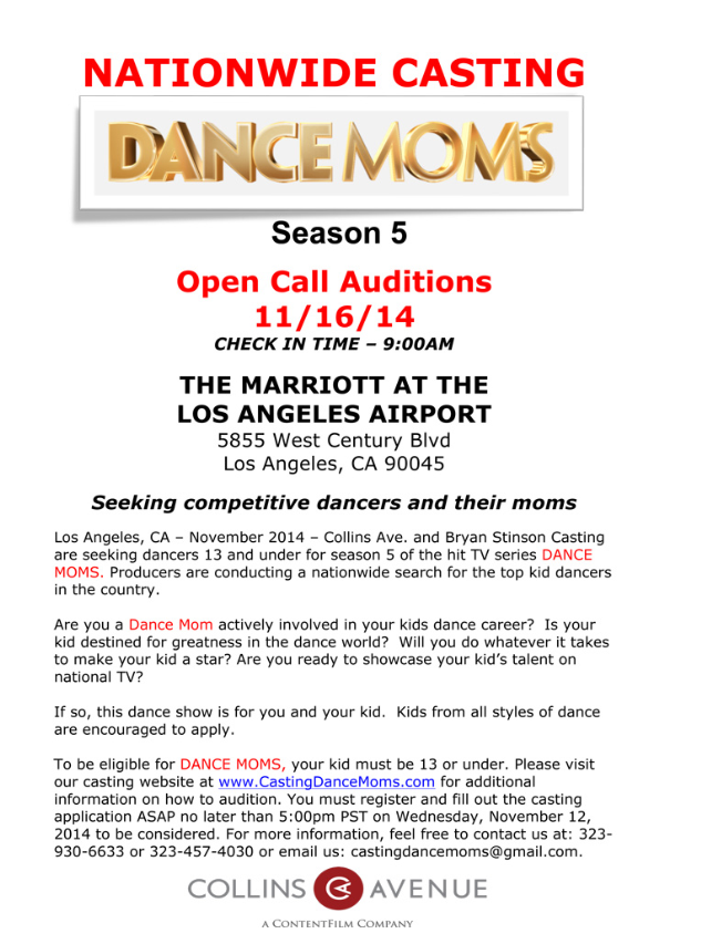 LA Audition Requirements « The Abby Lee Dance Company