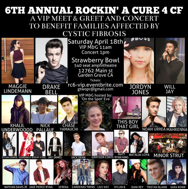 Meet drake bell jordyn jones will jay and more at a charity event interviewer on the spot eva is hosting a charity event where fans will be able to meet some fun celebrities and raise money to help find a cure for cystic m4hsunfo
